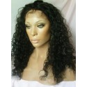 Indian remy - front lace wigs - curly - in stock