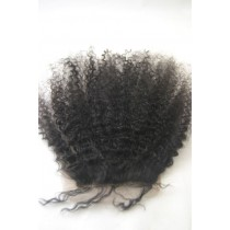 12 until 18 inch Indian remy - top/lace closures - afro kinky (kinky curl) - hair color 1B - available immediatly