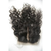 12 until 18 inch Peruvian virgin - top/lace closures - curly - natural color - available immediatly
