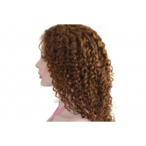 14 t/m 24 inch Indian remy  - front lace wigs - curly - haarkleur 4 - direct leverbaar