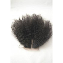 12 until 18 inch Peruvian virgin - top/lace closures - afro kinky (kinky curl) - natural color - available immediatly