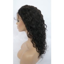 14 t/m 24 inch Indian remy  - front lace wigs - curly - haarkleur 2 - direct leverbaar