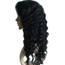 Indian remy - front lace wigs - deep wave - in stock