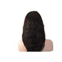 Indian remy - front lace wigs - natural wave - in stock