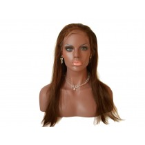 14 t/m 24 inch Indian remy  - front lace wigs - straight - haarkleur 4 - direct leverbaar