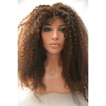 16 inch Braziliaans virgin - U-part front lace wigs - straight - natuurlijke haarkleur - direct leverbaar
