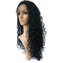14 t/m 24 inch Indian remy  - front lace wigs - curly - haarkleur 1 - direct leverbaar