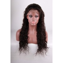 14 t/m 24 inch Indian remy  - front lace wigs - wavy - haarkleur 2 - direct leverbaar
