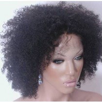 Indian remy - front lace wigs - afro kinky (kinky curl) - in stock