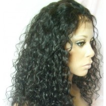 Curly - front lace wigs - custom made