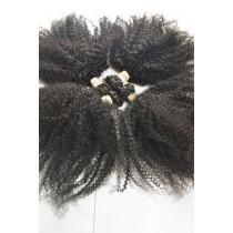 10 t/m 24 inch - Braziliaans haar - afro kinky (kinky curl) - natuurlijke kleur - direct leverbaar