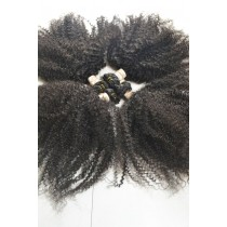 10 until 24 inch - Brazilian hair - afro kinky (kinky curl) - natural color - available immediatly