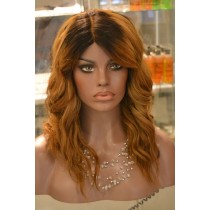 Handmade wig 5 - straight - hair color gold blond - exclusive - available immediatly