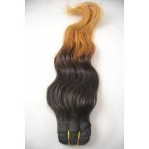 10 until 24 inch - Peruvian hair - wavy - natural hair color & gold blond - exclusive - in stock