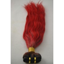 10 t/m 24 inch - Peruaans haar - straight - haarkleur vuurrood - exclusief - op voorraad