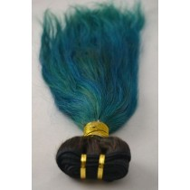 10 until 24 inch - Brazilian hair - straight - hair color turquoise - exclusive - in stock