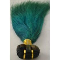 10 t/m 24 inch - Braziliaans haar - straight - haarkleur alpine green - exclusief - op voorraad