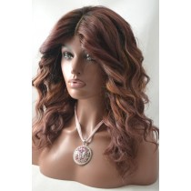 Handmade wig 9 - straight - hair color soft purple - exclusive - available immediatly