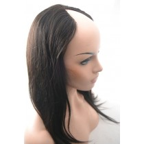 16 inch Brazilian virgin - U-part front lace wigs - straight - natural hair color - available immediatly