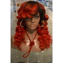 Handmade wig 13 - straight - hair color fire red - exclusive - available immediatly
