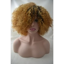 Handmade wig 8 - afro kinky (kinky curl) - hair color gold blond - exclusive - available immediatly