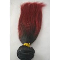 10 t/m 24 inch - Peruaans haar - straight - haarkleur zacht rood - exclusief - op voorraad