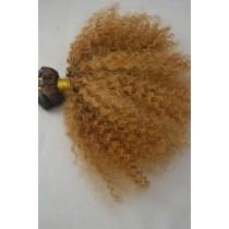 10 t/m 24 inch - Braziliaans haar - afro kinky (kinky curl) - haarkleur goudblond - exclusief - op voorraad