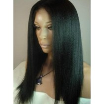 Indian remy - front lace wigs - kinky straight - in stock