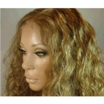 Indian remy - front lace wigs - loose curl - in stock