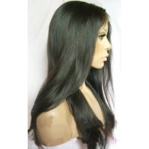 14 t/m 24 inch Indian remy  - front lace wigs - straight - haarkleur 1B - direct leverbaar