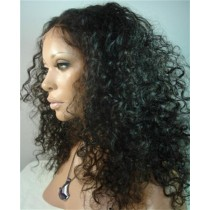 Indian remy - front lace wigs - deep curl - in stock